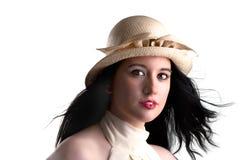Menina gótico que olha no vento Imagens de Stock Royalty Free
