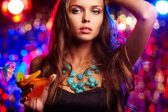 Menina glamoroso Imagens de Stock Royalty Free