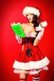Menina glamoroso de Santa Foto de Stock Royalty Free