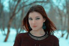 Menina glamoroso na natureza fotografia de stock