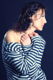 Menina glamourous expressivo. Imagens de Stock Royalty Free
