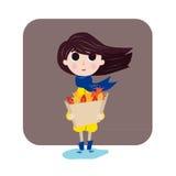 A menina gosta do outono Imagens de Stock