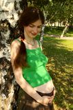 Menina grávida Fotos de Stock Royalty Free