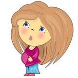 Menina grávida dos desenhos animados. Fotografia de Stock Royalty Free