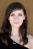 Menina Green-eyed foto de stock royalty free