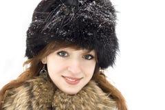 Menina Green-eyed Fotografia de Stock Royalty Free