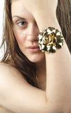 Menina Green-eyed Imagem de Stock Royalty Free