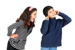Menina gritando Foto de Stock Royalty Free