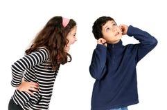 Menina gritando Imagens de Stock Royalty Free