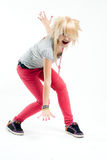 Menina gritando do emo Foto de Stock Royalty Free