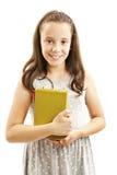 Menina guardando livros fotografia de stock royalty free