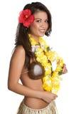 Menina havaiana Imagem de Stock Royalty Free