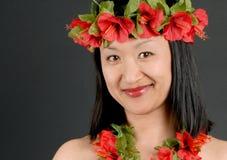 Menina havaiana fotografia de stock