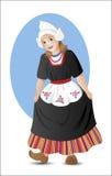 Menina holandesa no traje nacional ilustração stock
