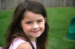 Menina idosa de cinco anos adorável Imagem de Stock