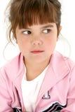 Menina idosa de cinco anos irritada Imagem de Stock Royalty Free