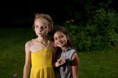 Menina idosa de oito e nove yeas Imagem de Stock