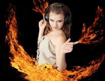 Menina - incêndio Fotografia de Stock Royalty Free