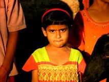 Menina indiana ansiosa imagem de stock royalty free