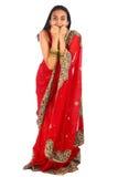 Menina indiana nova na roupa tradicional fotografia de stock royalty free