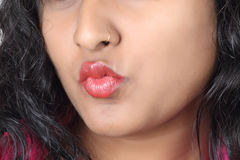 Menina indiana nova que levanta no estilo para o tiro do produto Imagens de Stock