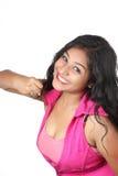 Menina indiana nova que levanta no estilo para o tiro do produto Fotos de Stock Royalty Free