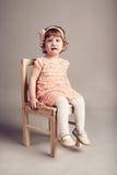 Menina infeliz pequena Fotos de Stock