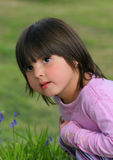 Menina inquisidora fotografia de stock