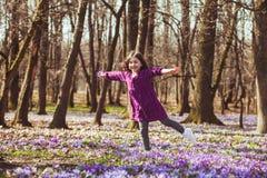 Menina inspirada por natureza Foto de Stock Royalty Free