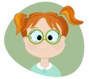 Menina inteligente Ilustração lisa ilustração do vetor