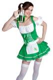 Menina irlandesa de sorriso Fotos de Stock Royalty Free