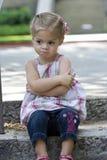 Menina irritada Imagens de Stock Royalty Free