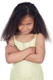 Menina irritada adorável Foto de Stock Royalty Free