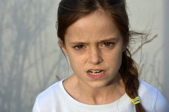 Menina irritada do adolescente Imagens de Stock Royalty Free