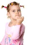 Menina irritada do divertimento Fotografia de Stock