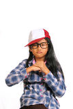 Menina irritada resistente Imagem de Stock