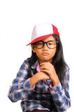 Menina irritada resistente Fotos de Stock Royalty Free