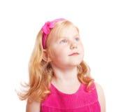 menina isolada no branco Fotos de Stock