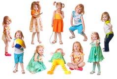 Menina isolada no branco Fotos de Stock Royalty Free