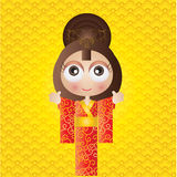 Menina japonesa Foto de Stock Royalty Free
