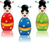Menina japonesa com quimono Imagem de Stock Royalty Free