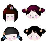 Menina japonesa do asian de Dol ilustração royalty free
