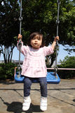 Menina japonesa no balanço Imagem de Stock Royalty Free