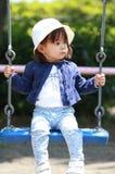 Menina japonesa no balanço Fotografia de Stock
