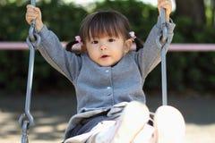 Menina japonesa no balanço Foto de Stock