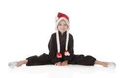 Menina-karateka Imagem de Stock