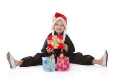 Menina-karateka Foto de Stock
