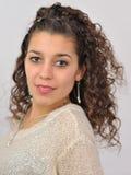 Menina Latin vestida acima foto de stock royalty free