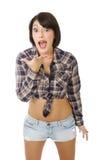Menina latino irritada imagens de stock royalty free