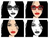 Menina lindo com cabelo longo: Vetor Imagens de Stock